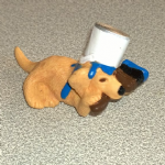 #57 Wellington Golden Retreiver  Vintage Puppy in my pocket dogs 1994